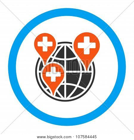 Global Clinic Company Rounded Vector Icon