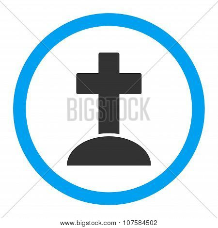 Grave Rounded Vector Icon