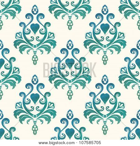 Watercolor seamless wallpapers in the style of Baroque . Vector Illustration
