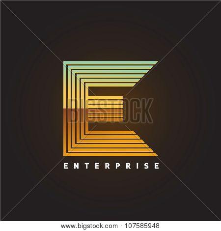 Letter E Logo Template.