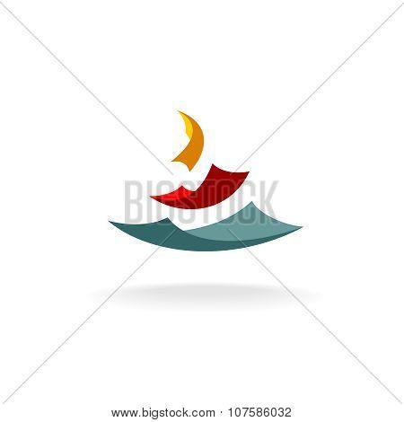 Falling Paper Sheets Logo
