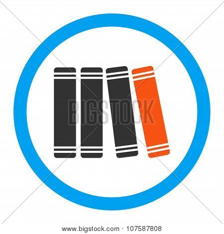 Library Books Rounded Vector Icon