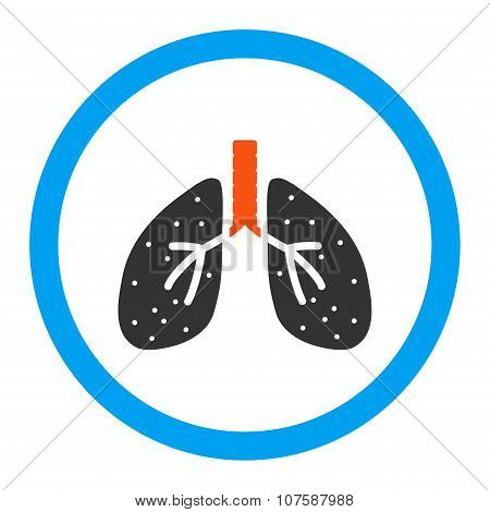 Lungs Rounded Vector Icon