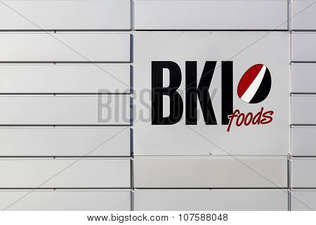 BKI Foods logo on a wall