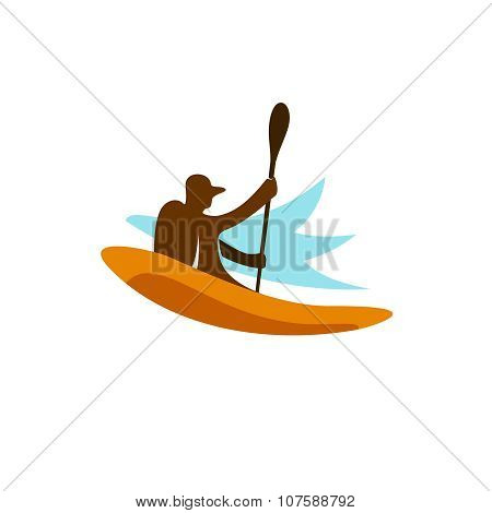 Kayak Fishing Logo
