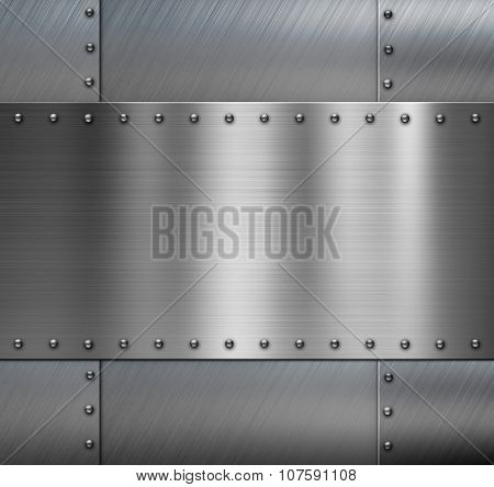 Armored metal background with rivets