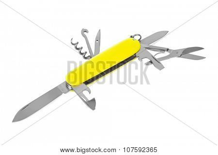 Knife multitool isolated on white background