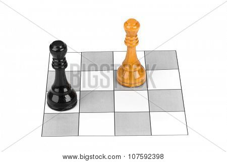 Chess kings isolated on white background