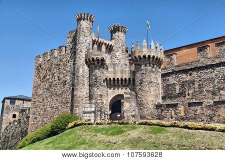 Entrance Of Templar Castle In Ponferrada