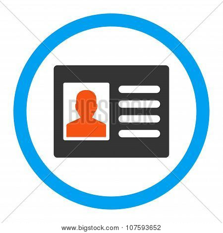 Patient Account Rounded Vector Icon