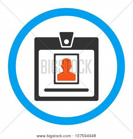 Person Badge Rounded Vector Icon