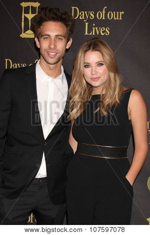 LOS ANGELES - NOV 7:  Blake Berris, Ashley Benson at the Days of Our Lives 50th Anniversary Party at the Hollywood Palladium on November 7, 2015 in Los Angeles, CA