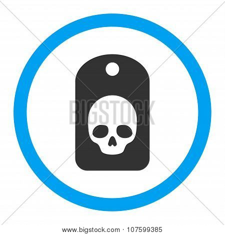 Skull Label Rounded Vector Icon
