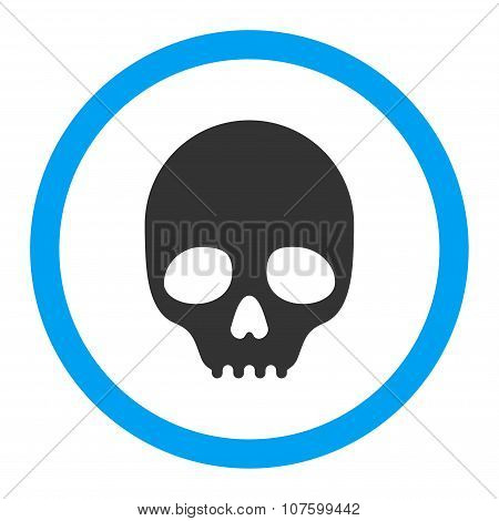 Skull Rounded Vector Icon