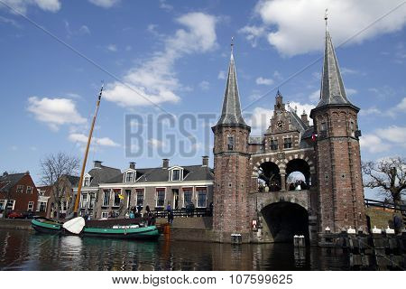 Port in the dutch city sneek