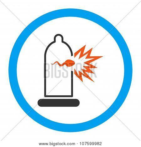 Sperm Escape Rounded Vector Icon