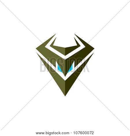 Evil Robot Head Symbol