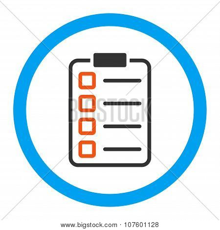 Test Form Rounded Vector Icon
