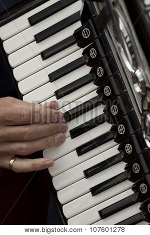 Playing on a music instrument