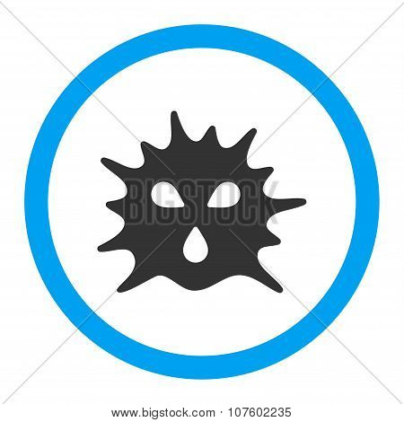 Virus Structure Rounded Vector Icon