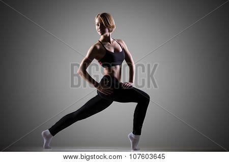 Fit Woman Doing Gymnastics