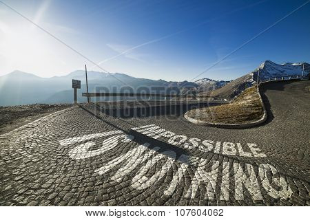 Impossible Is Nothing - Written On The Road In Mountain
