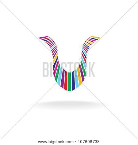 Letter U Colorful Logo