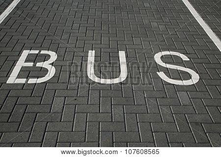 Bus lane dark asphalt texture