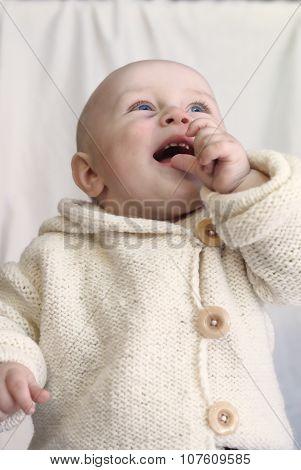 Little boy. Handmade hoodie