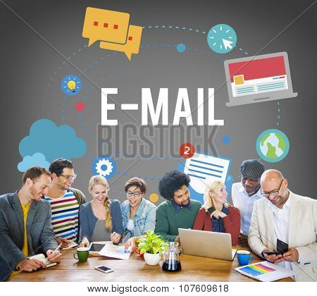 E-mail Internet Connection Communication Message Global Chatting Information Concept