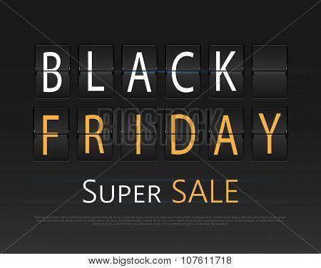 Black friday sale, analog flip clock design.