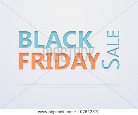 Cut out the paper lettering for black friday