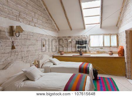 Interior of salt hotel