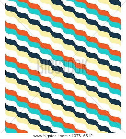 Seamless Bright Abstract Wave Pattern