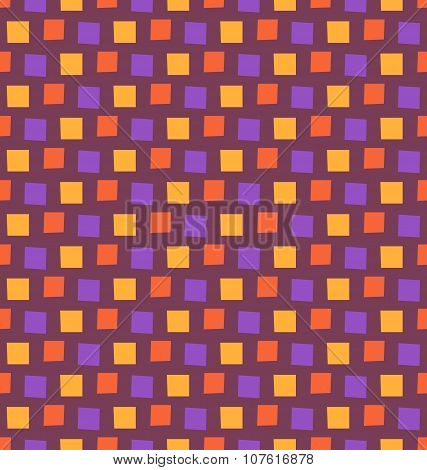 Seamless Bright Fun Abstract Mosaic Pattern Isolated On Violet