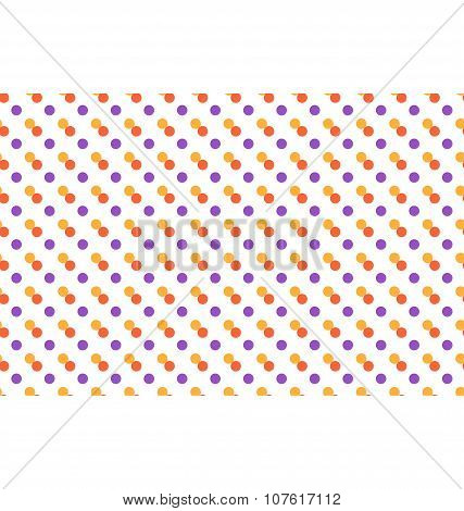 Seamless Pattern With Multicolored Dots Isolated On White