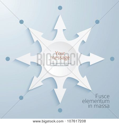Compass-needle-element-design-effect-paper