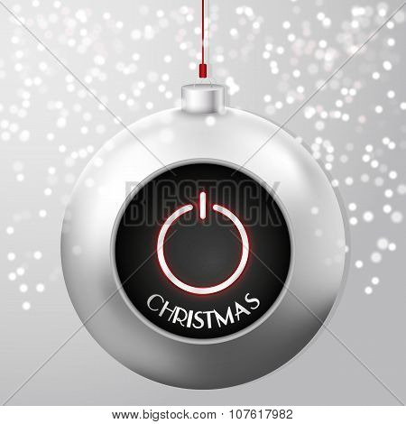 Christmas Ball with Power Button