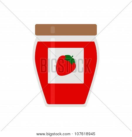 Jam. Jam icon. Isolated jam icon on white background.