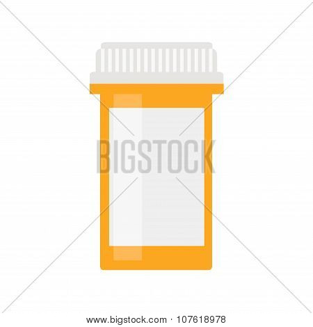 Modern pill bottle for pills or capsules.