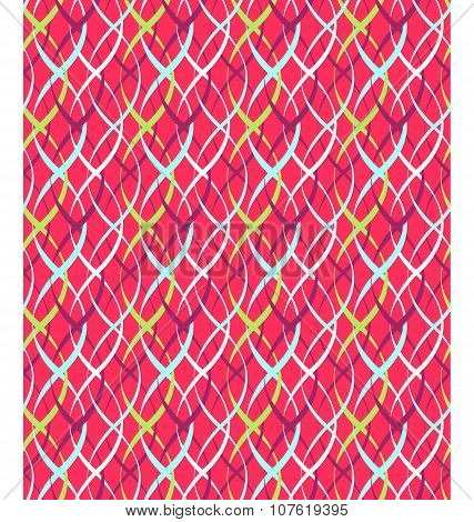 Seamless Bright Abstract Vertical Pigtail Pattern
