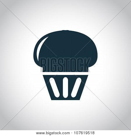 Cupcake black icon