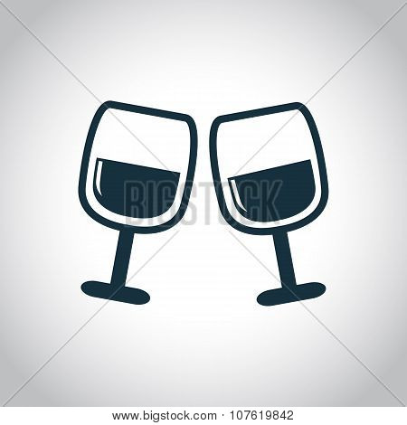 2 wine glasses icon