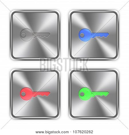 Color Key Steel Buttons