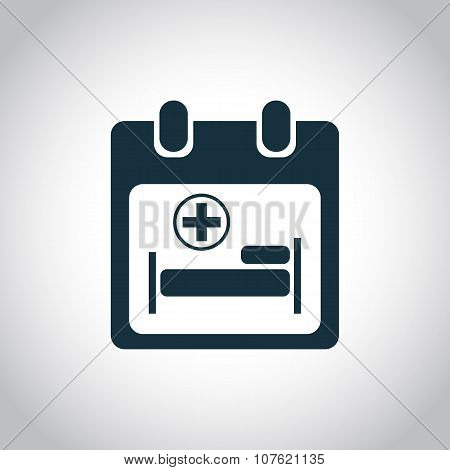 Hospitalize calendar icon