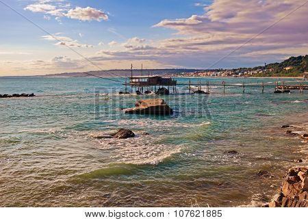 Adriatic Sea Coast In Chieti, Abruzzo, Italy