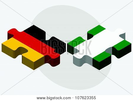 Germany And Nigeria Flags