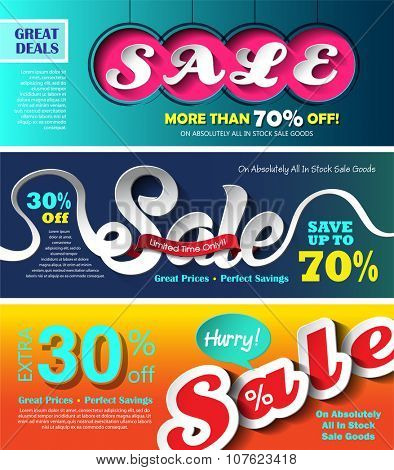 Sale banners design