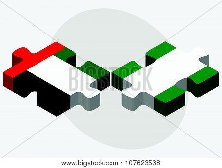 United Arab Emirates And Nigeria Flags