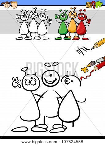 Color And Drawing Task For Kids